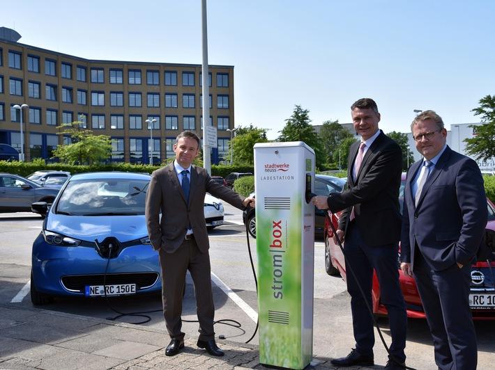 RCI Banque Deutschland mit Elektroladesäulen der Stadtwerke Neuss