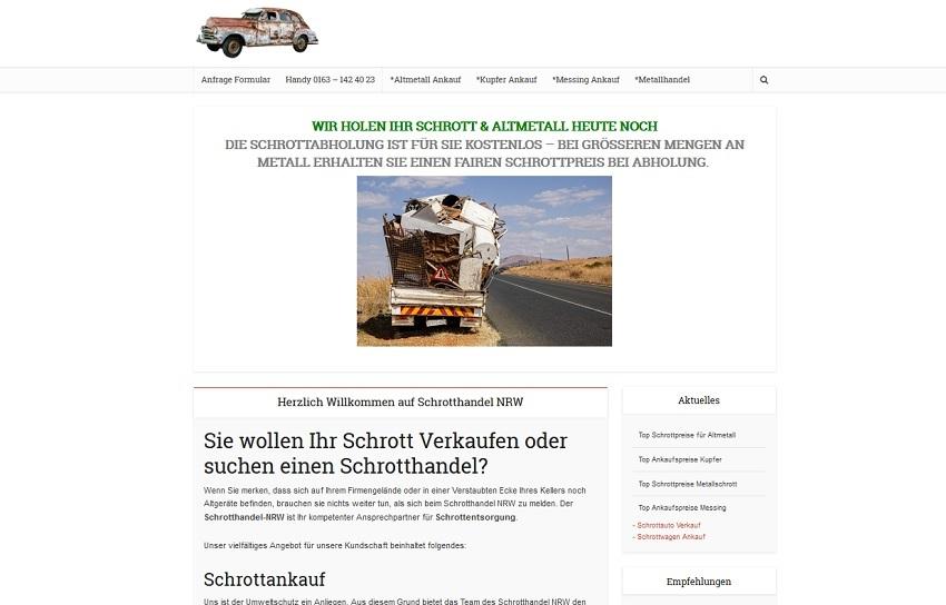 Schrotthandel Wuppertal kümmert sich um ihre Schätze
