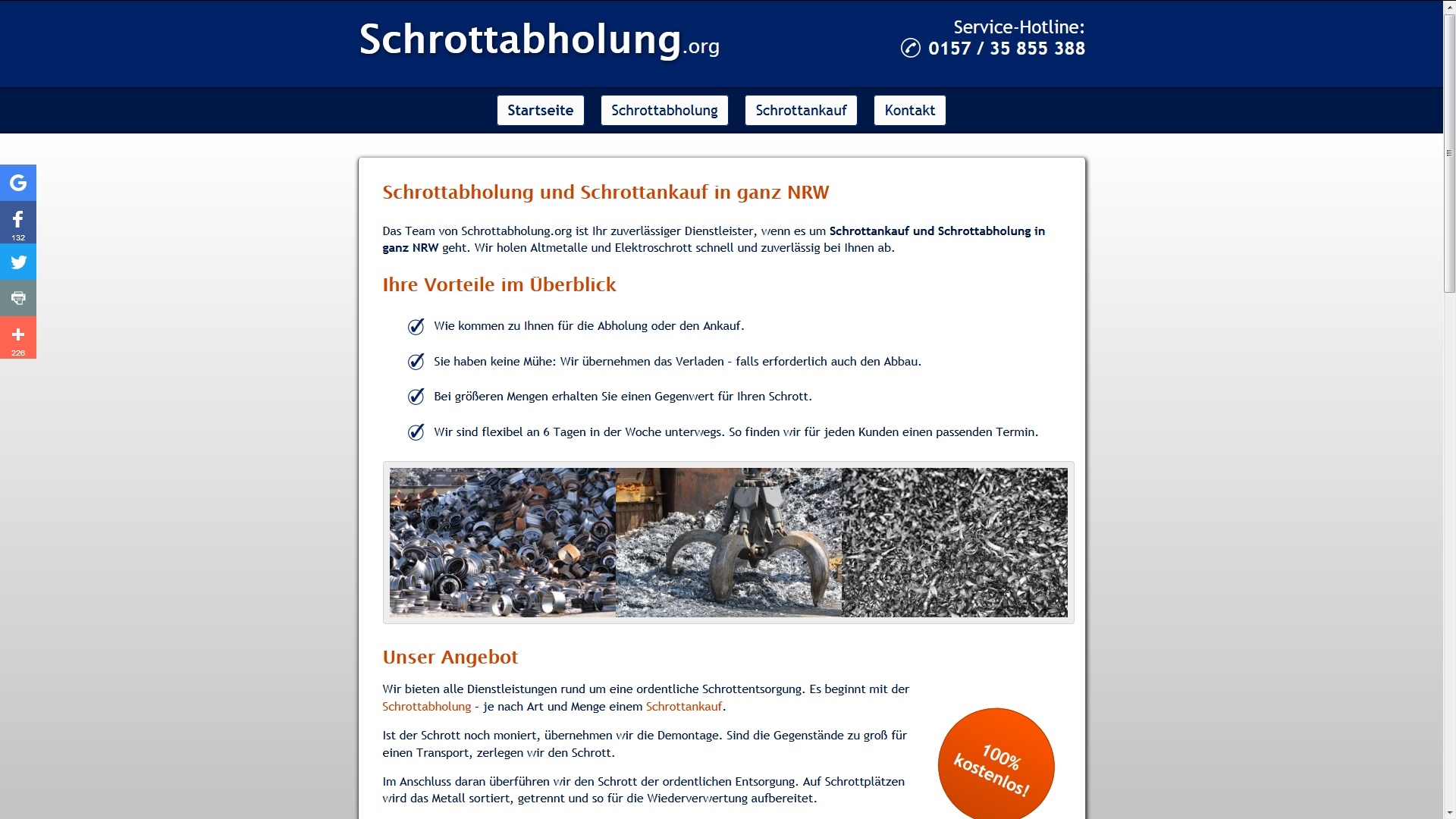 Schrottabholung Mönchengladbach–die Alternative zum Sperrmülltermin