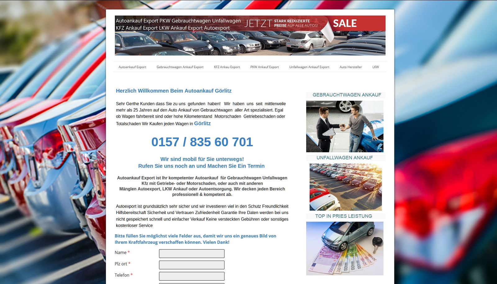 auto-ankauf-export.de - Autoankauf Ansbach